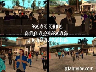 GTA San Andreas Real Life SA Characters Mod - GTAinside com
