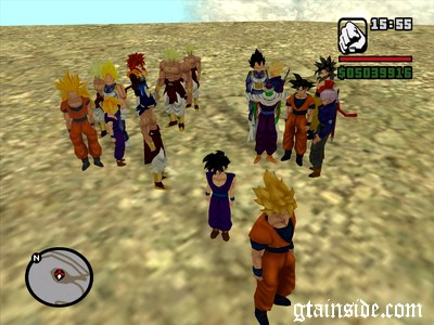 Dragon Ball PED models pack v1