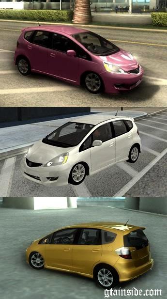Gta San Andreas Honda Jazzfit Mod Gtainsidecom