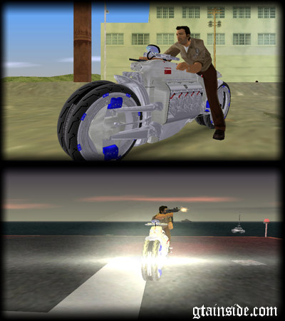 GTA Vice City Dodge Tomahawk Motorcycle Mod - GTAinside.com