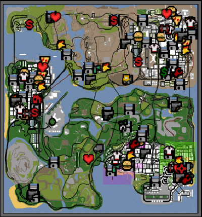 gta san andreas unlock map cheat ps2