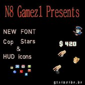 Colored Font New hud icons and Cop Stars
