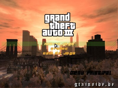 New menu GTA III