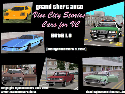 Gta Vice City Vcs Cars For Vc Beta 1 0 Mod