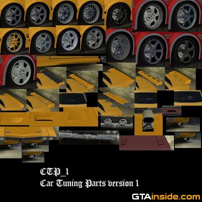 Gta San Andreas Car Tuning Parts Mod Gtainside Com