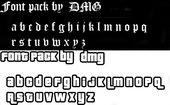 Font Pack by DMG