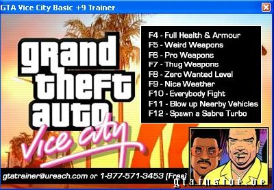 GTA Vice City Basic +9 Trainer