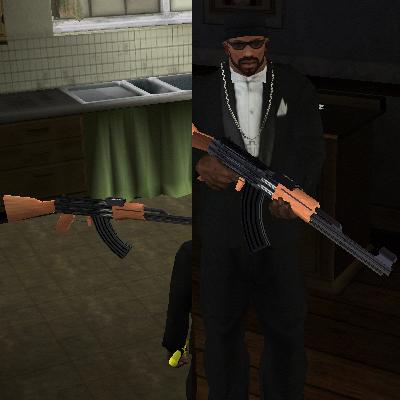 GTA San Andreas Real AK47 Mod