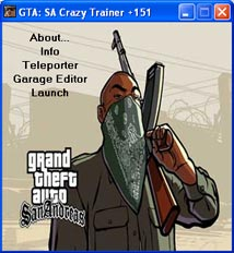 GTA: San Andreas Crazy Trainer +151 v2.0