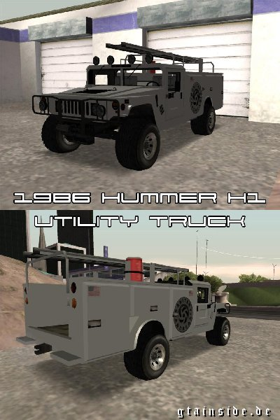 Hummer H1 Utility Truck