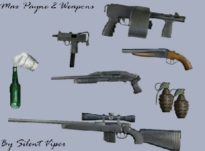 Gta Vice City Max Payne 2 Weapons Pack V2 Mod Gtainside Com