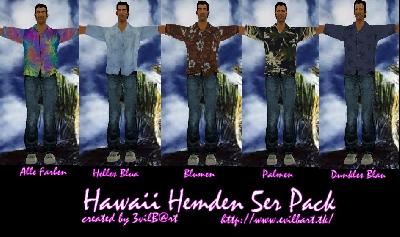 Hawaii Hemden Pack V 1.0