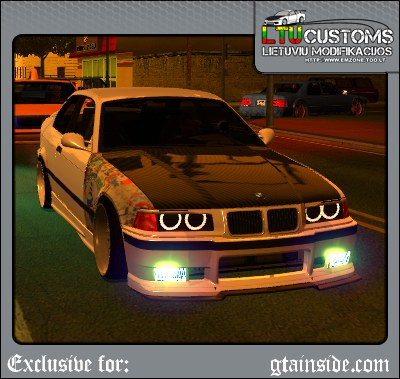 GTA San Andreas BMW E36 M3 Street Drift Edition Mod - GTAinside.com