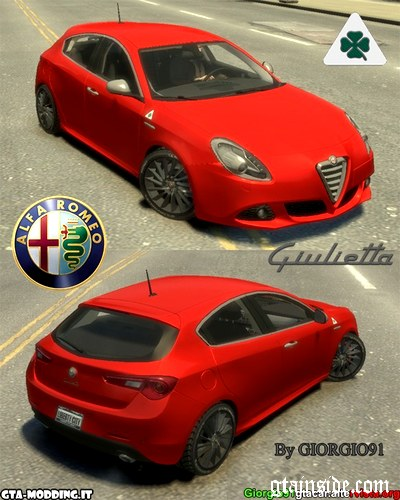 GTA 4 Alfa Romeo Giulietta Quadrifoglio Verde Mod