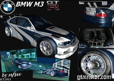 gta san andreas bmw m3 gtr most wanted mod gtainside com