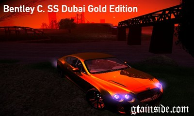 Bentley Continetal SS Dubai Gold Edition