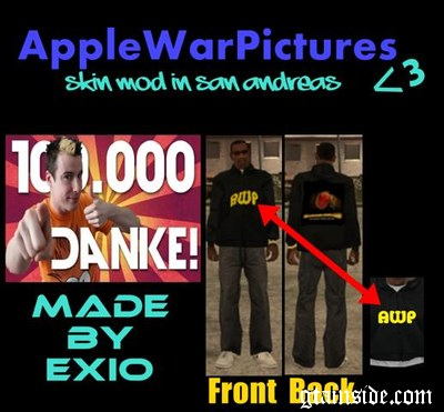 Apple War Pictures Hoody