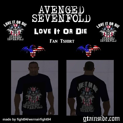 A7X Love It Or Die Fan T-Shirt