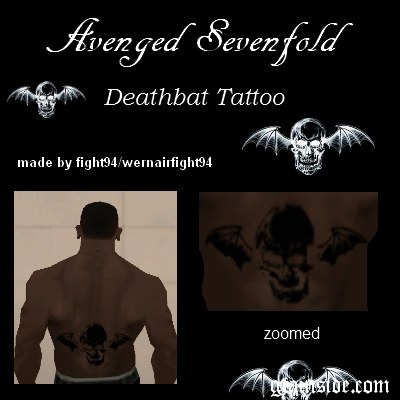 A7X Deathbat Tattoo