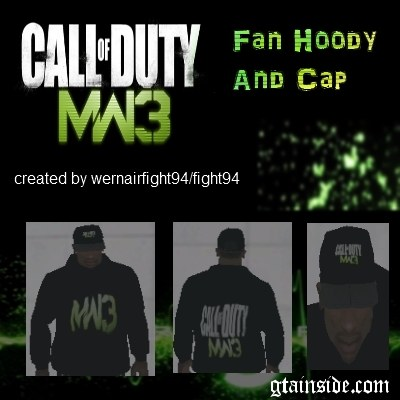 COD MW3 Fan Hoody And Cap