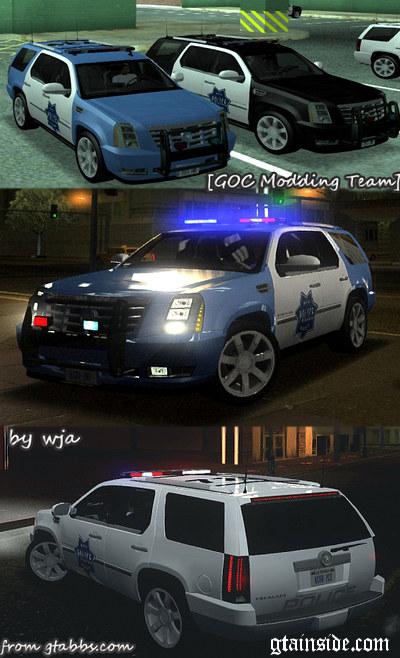 GTA San Andreas 2007 Cadillac Escalade Cop car Mod - GTAinside com