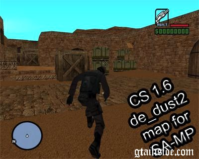 SA-MP CS 1.6 de_dust2 Map Mod