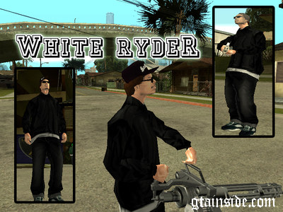 White Ryder in Black Outfits