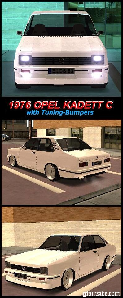 Opel Kadett C (with tuned Bumpers)