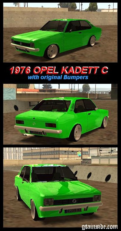 Opel Kadett C (with original Bumpers)
