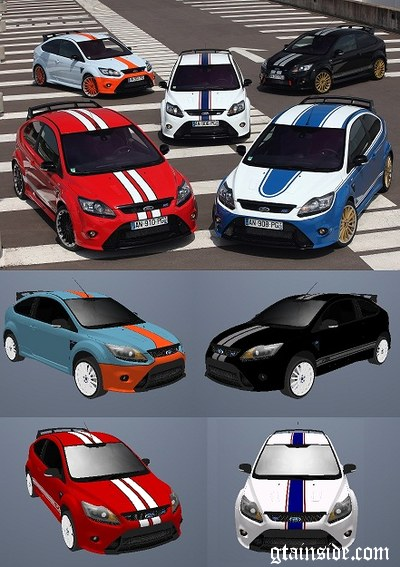 Paintjobs for Ford Focus RS 2009