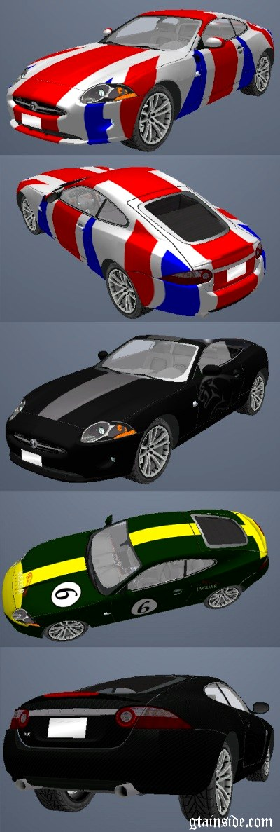 Paintjobs for Wired s Jaguar XK