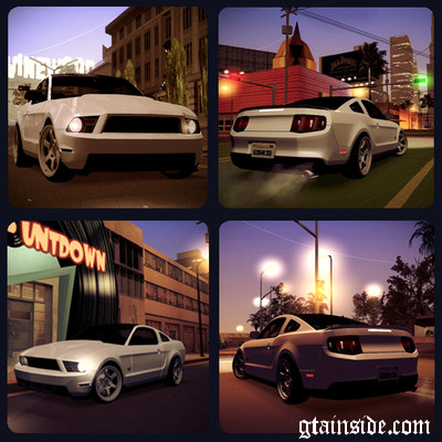 2011 Ford Mustang GT B&W