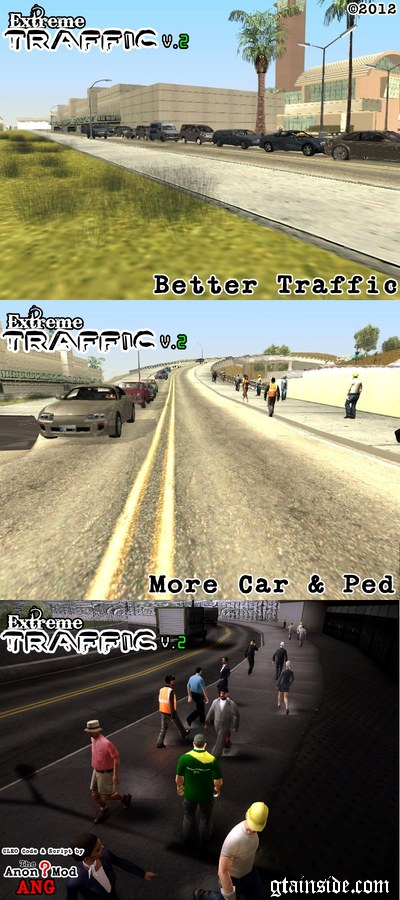 GTA San Andreas Extreme Traffic v2 Mod - GTAinside com
