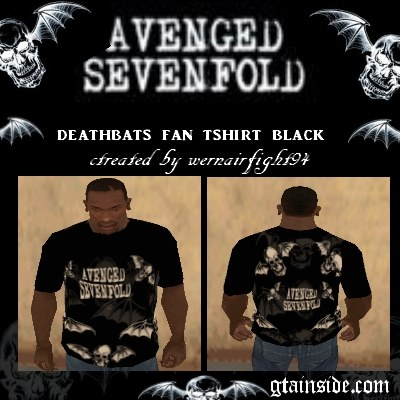 A7X Deathbats Fan T-Shirt Black