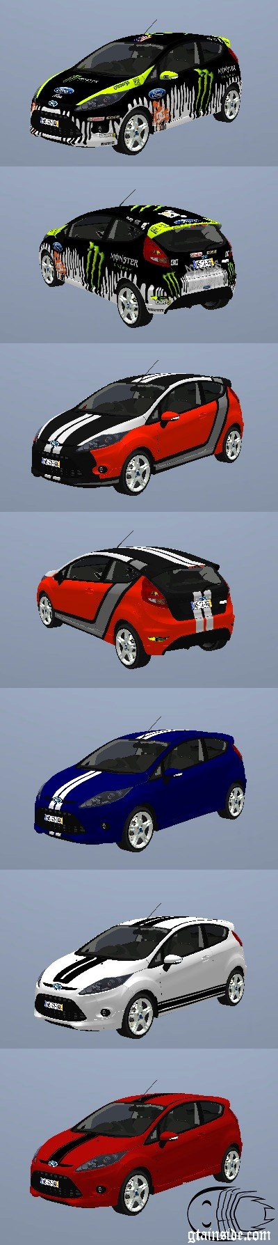 Paintjobs for 2010 Ford Fiesta ZETEC S