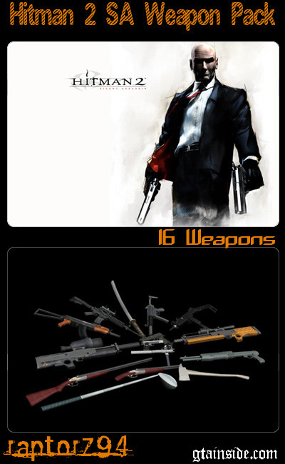Hitman 2 SA Weapon Pack
