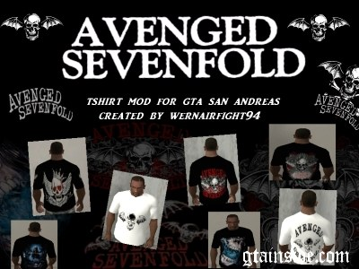 Avenged Sevenfold T-Shirt Mod Pack