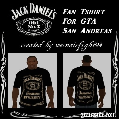 Jack Daniels Fan T-Shirt Black