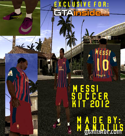 Messi Soccer Kit 2012 for CJ