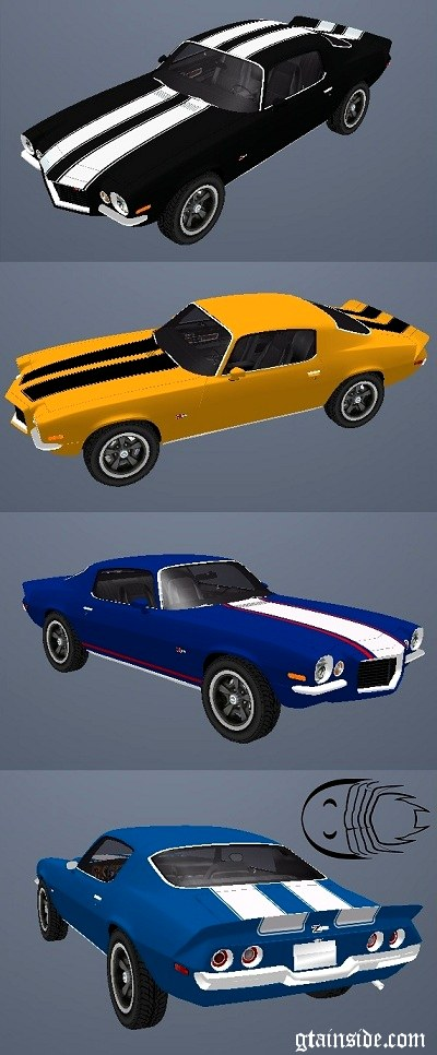 Paintjobs for 1972 Chevrolet Camaro Z28
