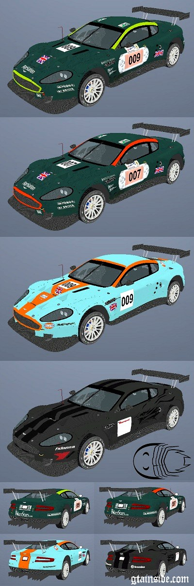 Paintjobs for Aston Martin DBR9