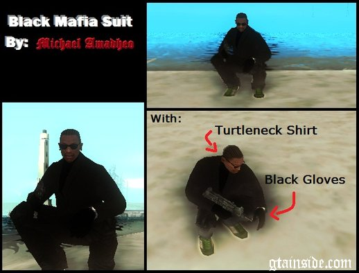 Black Mafia Suit