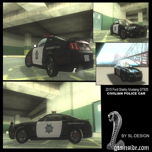 2010 Ford Shelby Mustang GT500 Civilians Cop Cars