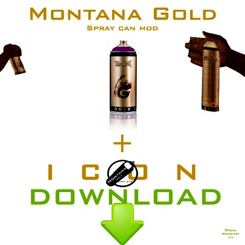 Montana Gold Spray Can + Hud Icon