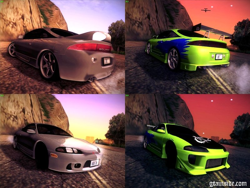gta san andreas mitsubishi eclipse gsx 1996 tunable mod. Black Bedroom Furniture Sets. Home Design Ideas