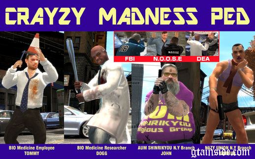 Crazy Madness Peds V1.1 + Special force war