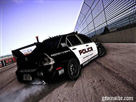 Mitsubishi Lancer Evo VIII MR Police Speed Enforcement
