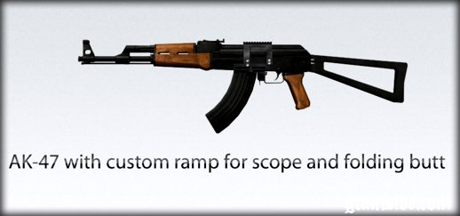 AK-47 with custom ramp for scope and folding butt