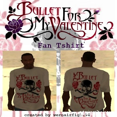 Bullet For My Valentine White Fan Tshirt