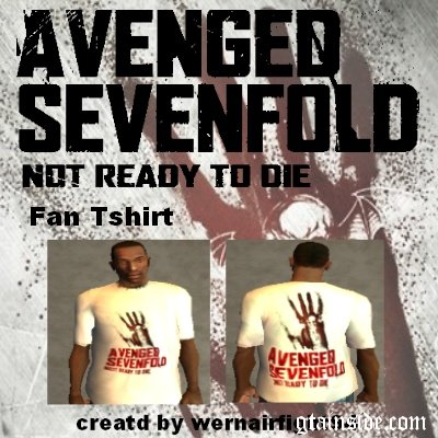 A7X Not Ready To Die Fan Tshirt